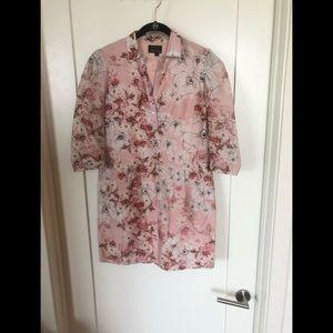 Varun Bahl Pink Floral Shirt Dress